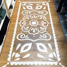 mandala rug floor painting
