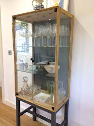 wall curio cabinet small with glass doors cabinets for