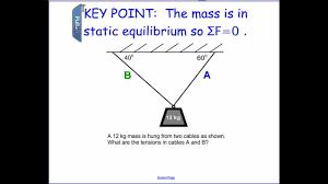 Physics Tension Problems Static Equilibrium