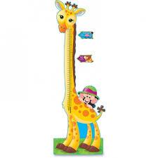 Trend T 8176 Giraffe Growth Chart Bulletin Board Set