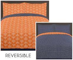 arrow orange navy bedding set 4 piece twin size by sweet jojo designs