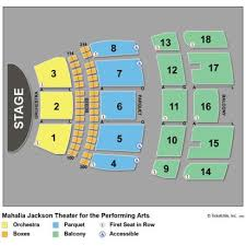 Mahalia Jackson Theater For The Performing Arts Seating Chart 48 Cogent Mahalia Jackson Seating Chart