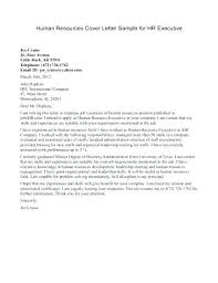 Sample Human Resources Cover Letters Human Resources Cover Letter Template