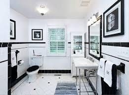 Great Black And White Bathroom Tile Ideas related to Home Decor ...