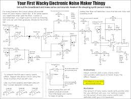 build a wacky electronic noise maker noise maker schematic click to enlarge