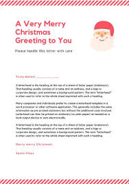 Simple Modern Red Lines Santa Letter Templates By Canva