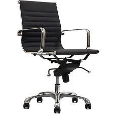 eames reproduction office chair. Delighful Office Eames Style Office Chair Management Replica Mid Ribbed Back Black  Leatherette Intended Reproduction