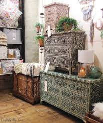 The base is golden brass finish. Diy Stenciled Anthropologie Dresser Knock Off Craftify My Love
