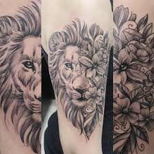 I Like The Idea Of The Flowers On Halfpart Of The Lions Face But