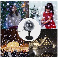 Lights That Look Like Snow Falling Us 18 09 35 Off Remote Control Snowfall Led Projector Light Dynamic Snow Falling Spotlight Decorative Led Lights For Garden Christmas Party In