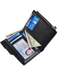 hopsooken hopsooken mens leather bifold wallet rfid men slim front pocket wallet slid vertical wallet com