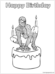 More cartoon characters coloring pages. Spider Man Birthday Coloring Pages Spiderman Coloring Pages Free Printable Coloring Pages Online