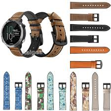 Fashion <b>Genuine Leather Silicone Watch</b> Band Strap for Garmin ...