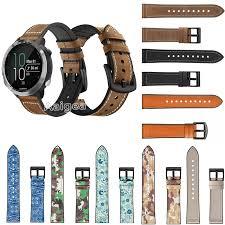 Fashion <b>Genuine Leather Silicone Watch</b> Band Strap for Garmin ...