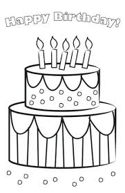 Printable Birthday Cake Printable Birthday Cake Card To Color Free