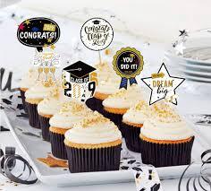 2019 Graduation Cupcake Toppers Cake Decoration Party Decor Favors
