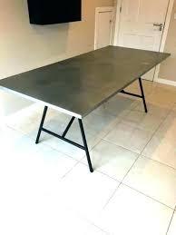 reclaimed wood zinc top rectangular dining table round