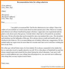 college admissions letter of recommendation sample admission letter sample admission letter sample commendation