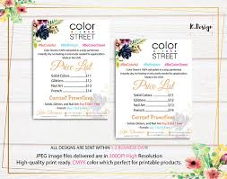 Custom Color Street Price List Color Street Price Chart