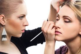makeup artist at work