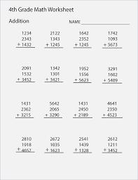 4th Grade Printable Worksheets On Math – webmart.me