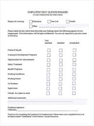 Job Questionnaire Forms 8 Free Documents In Word Pdf