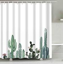 Mantto Cactus Decor <b>Shower</b> Curtain with <b>Modern</b> Concise Design ...