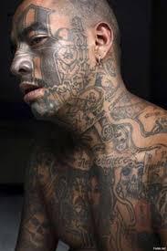 безумные татуировки на лице