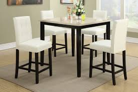 dining room table height beautiful 5pcs cream stone table top counter height dining set