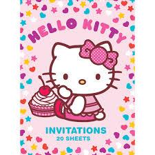 Hello Kitty Invitation Art Wrap Hello Kitty Party Invitations 20 Sheets