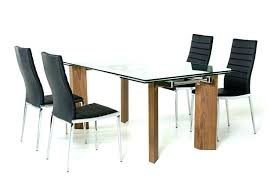 designer glass dining table set modern and leather chairs luxury glass dining table sets toronto glass