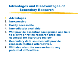 Exploratory Research   Secondary Data   ppt download SlideShare