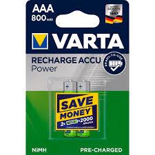 <b>Аккумулятор VARTA AAA</b> мизинчиковый LR03 1,2 В 800 мАч (2 шт.)