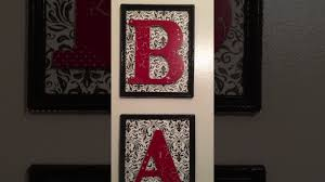 Diy dollar tree bathroom wall art - YouTube