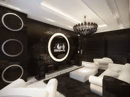 interior remarkable black living room wall design with fancy white sofa ideas and fetching black