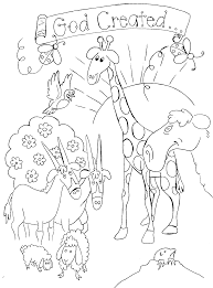 Free Bible Creation Coloring Pages Creation Printables