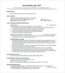 Eit Resume Sample Best of Eit Resume Sample Prissy Design Civil Engineer Resume Civil Engineer