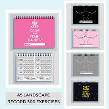 weight training log book personalise workout log book a5 gym exercise cardio weight