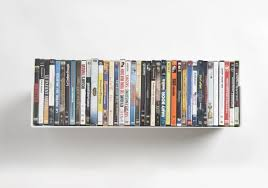 dvd wall shelf 60 x 15 cm