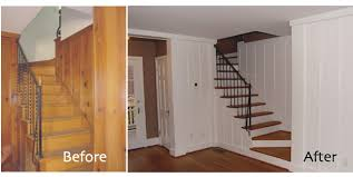 Wood Paneling Before And After | found this before/after here . We have this