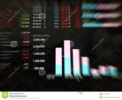 Thailand Stock Chart Stock Exchange Of Thailand On The Background Soft Blur Stock
