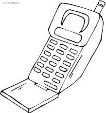 Mobile Phone Coloring Pages Cell Phone Coloring Page Phone Coloring