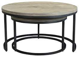 drey round nesting coffee tables set