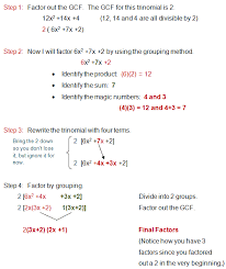 factoring trinomials with a lead coefficient greater than 1 by grouping