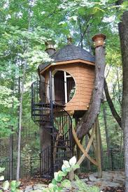 A rotted Ash tree in Bonnie and Keith Brauer's Zionsville, Ind., backyard  becomes a One-of-a-kind Tree House, and makes a great Backyard Addition