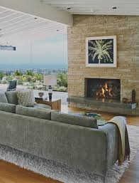 modern living room with brick fireplace. Comely Modern Living Room With Brick Fireplace Home Tips Property And E