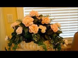 how to make silk flower arrangements part 1 flower decoration