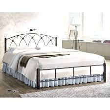 Black Steel Bed Frame Black Metal Bed Frame King Iron Platform Bed ...