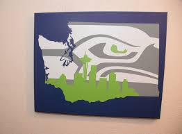 Small Picture Washington State sign Seattle Seahawks sign unique Seattle