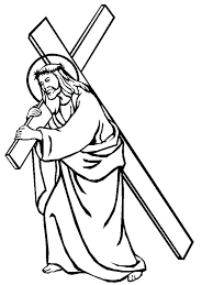 Coloring Pages Of Cross Printable Cross Pictures Easter Cross